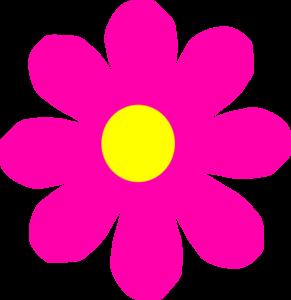 Pretty Pink Flower Clip Art at Clker.com.