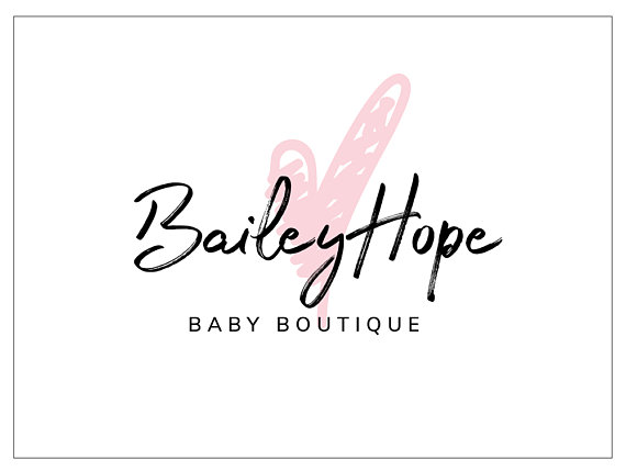 Premade Logo / Baby Boutique Logo / Heart Logo / Wedding.