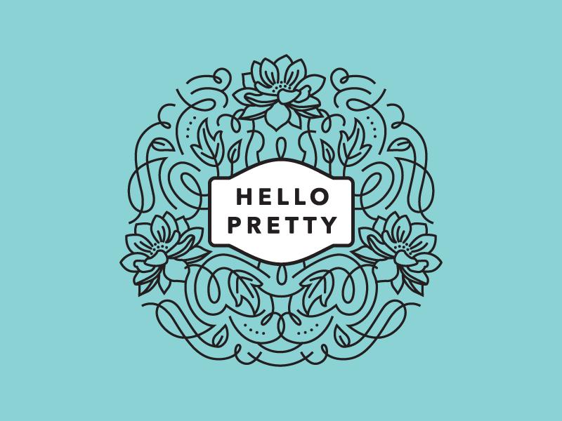 Hello Pretty Logo Mockup by Amy Hood for Hoodzpah on Dribbble.