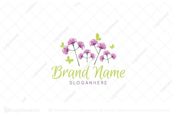 Exclusive Logo 89301, Pretty Garden Logo.