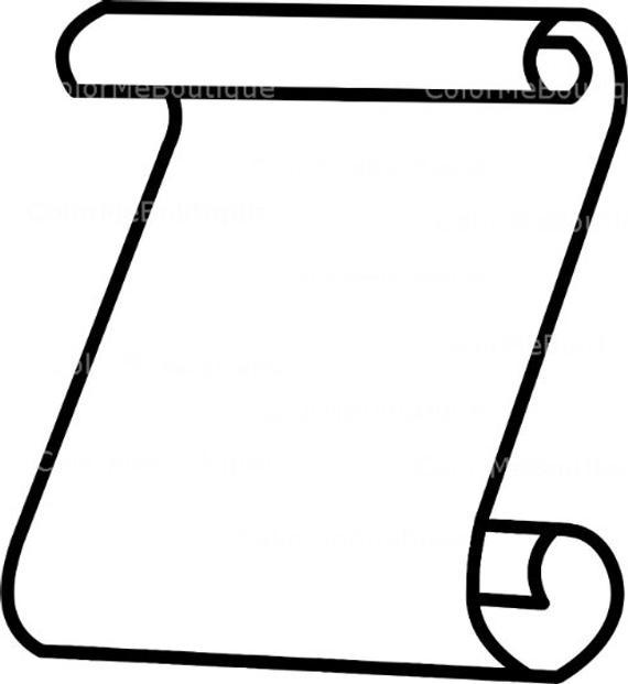Scroll clipart blank scroll, Scroll blank scroll Transparent.