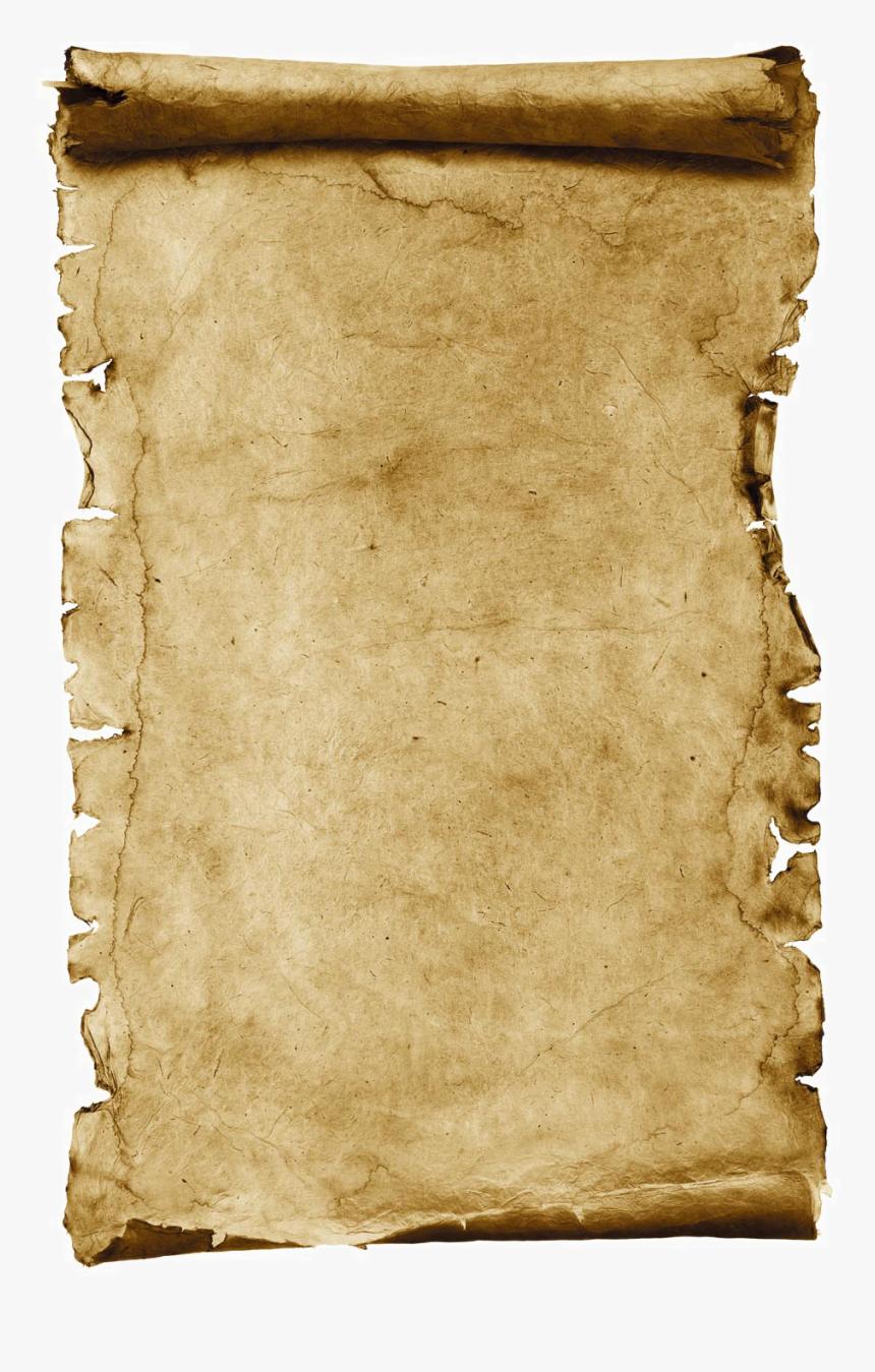 Transparent Parchment Scroll Clipart.