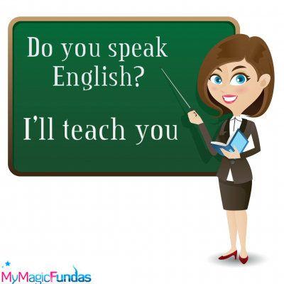 Teacher Teaching English Clipart.