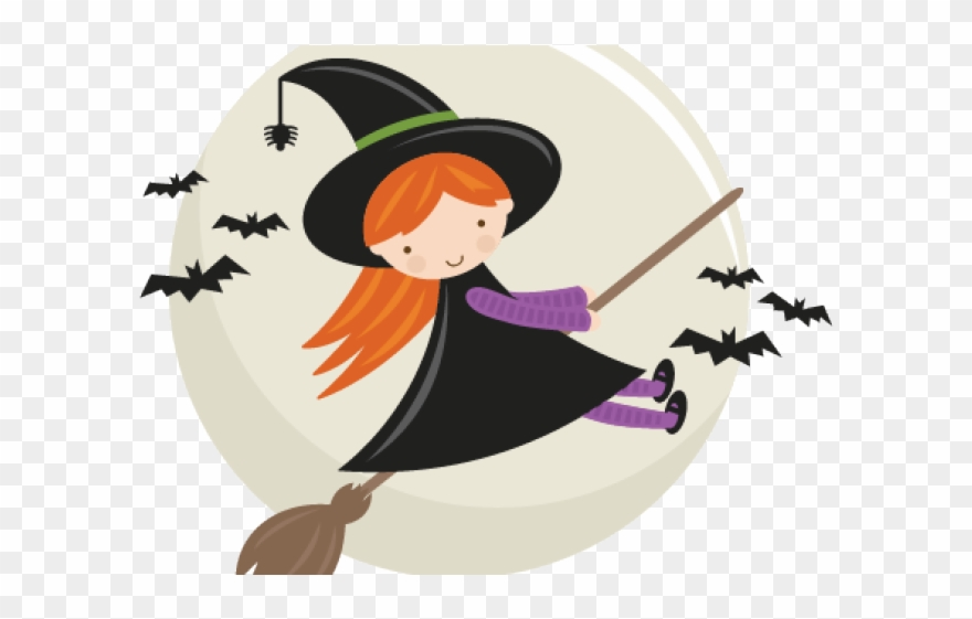 Cute Witch Clipart Free.
