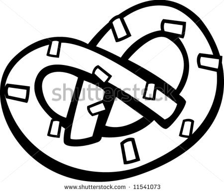 Pretzels Clipart Black And White.