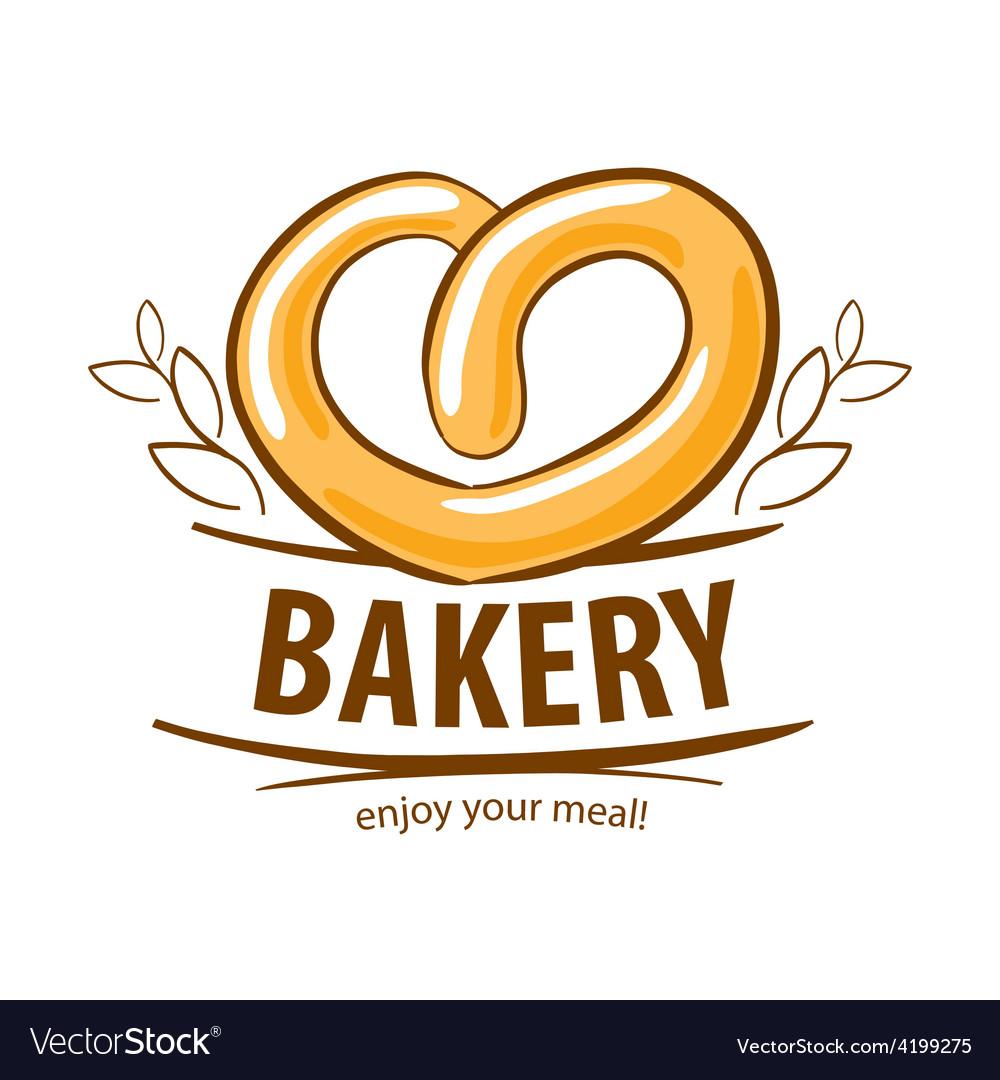 Logo fresh pretzel bakery.