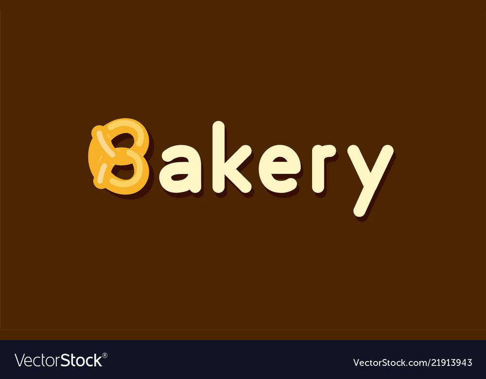 Baker logo with pretzel roll.