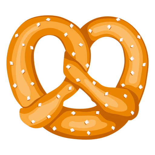Soft pretzel illustration.
