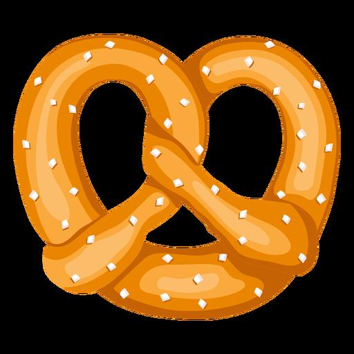 Soft pretzel illustration.