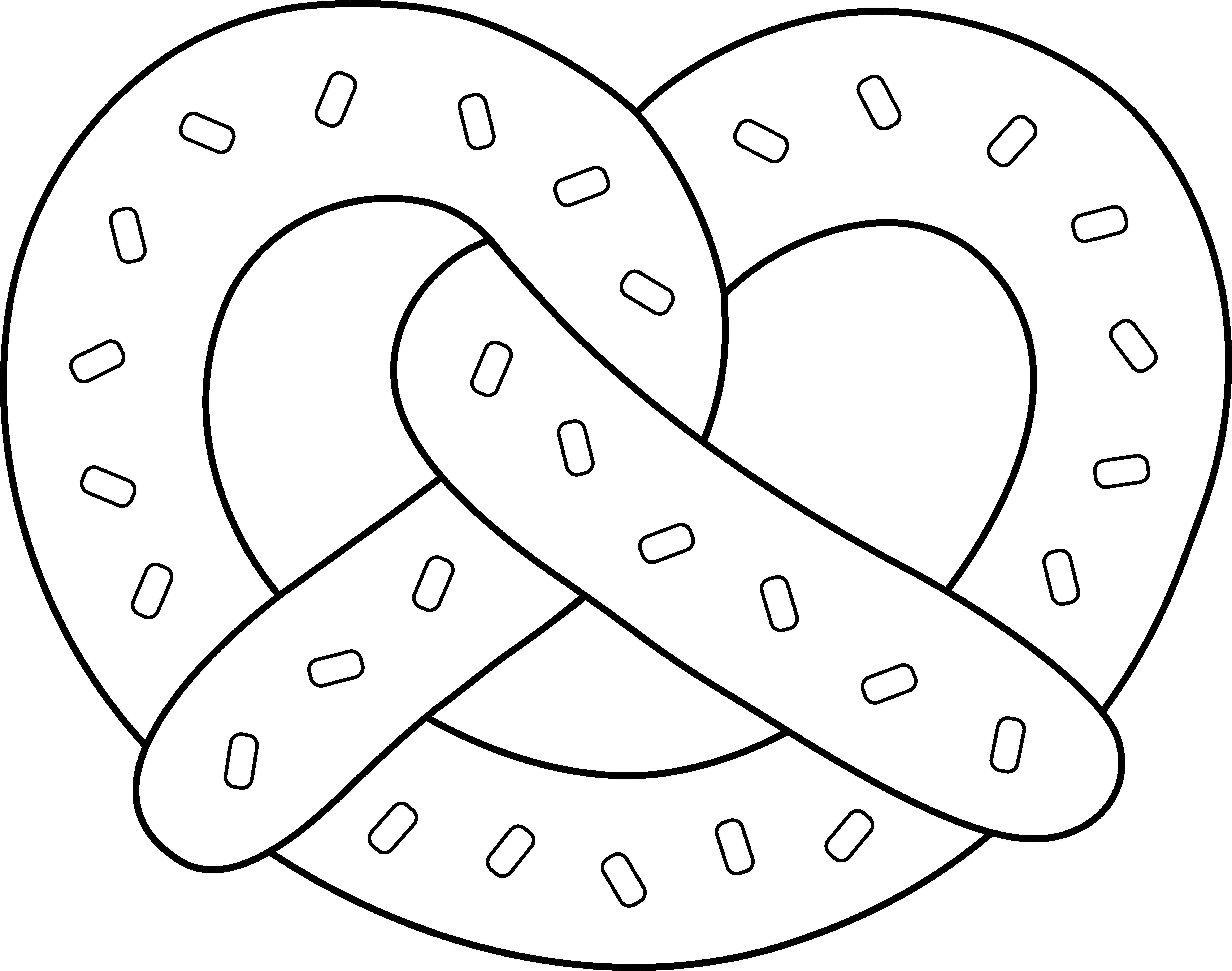 Free Pretzel Clipart Black And White, Download Free Clip Art.