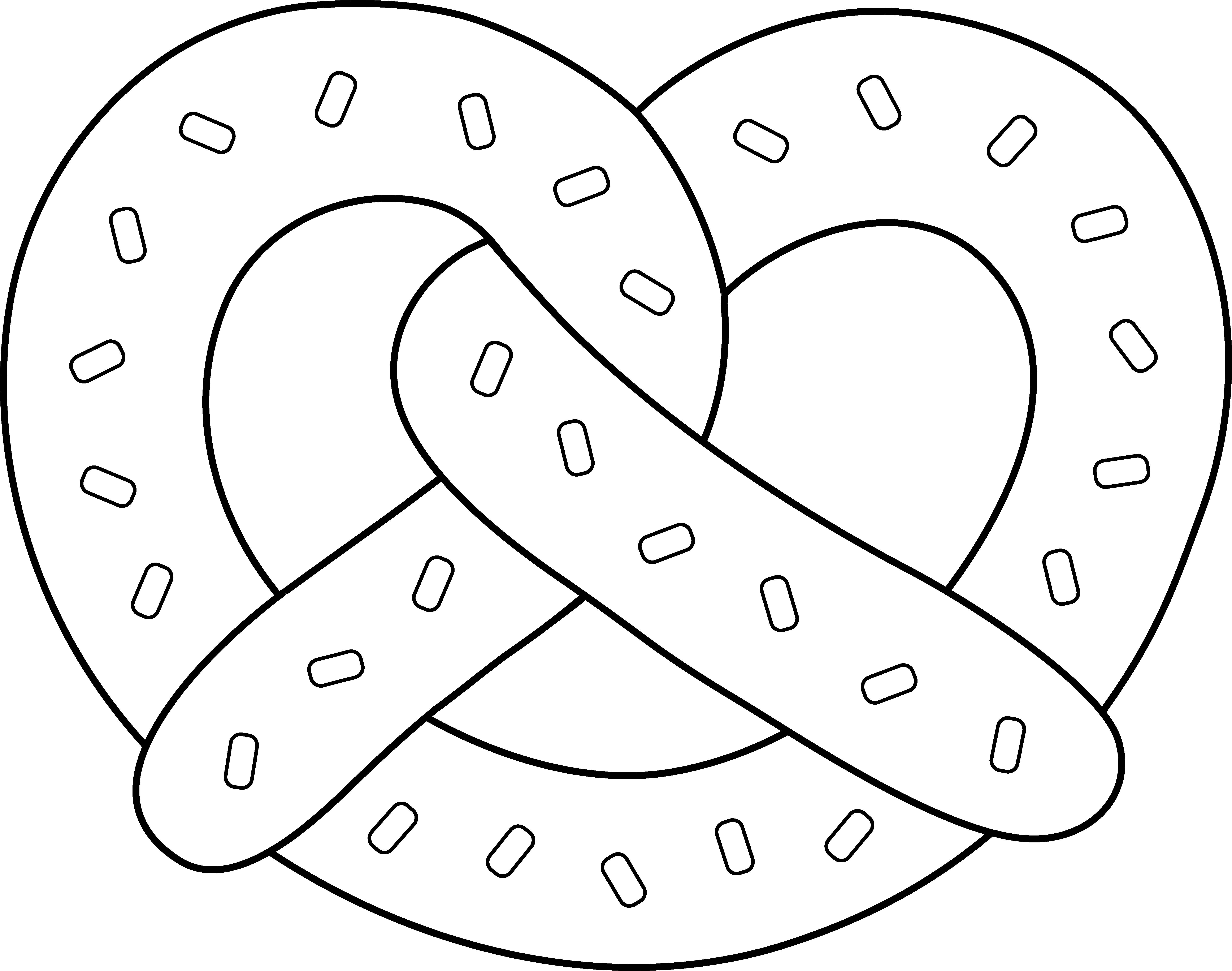 Free Pretzel Clipart Black And White, Download Free Clip Art.