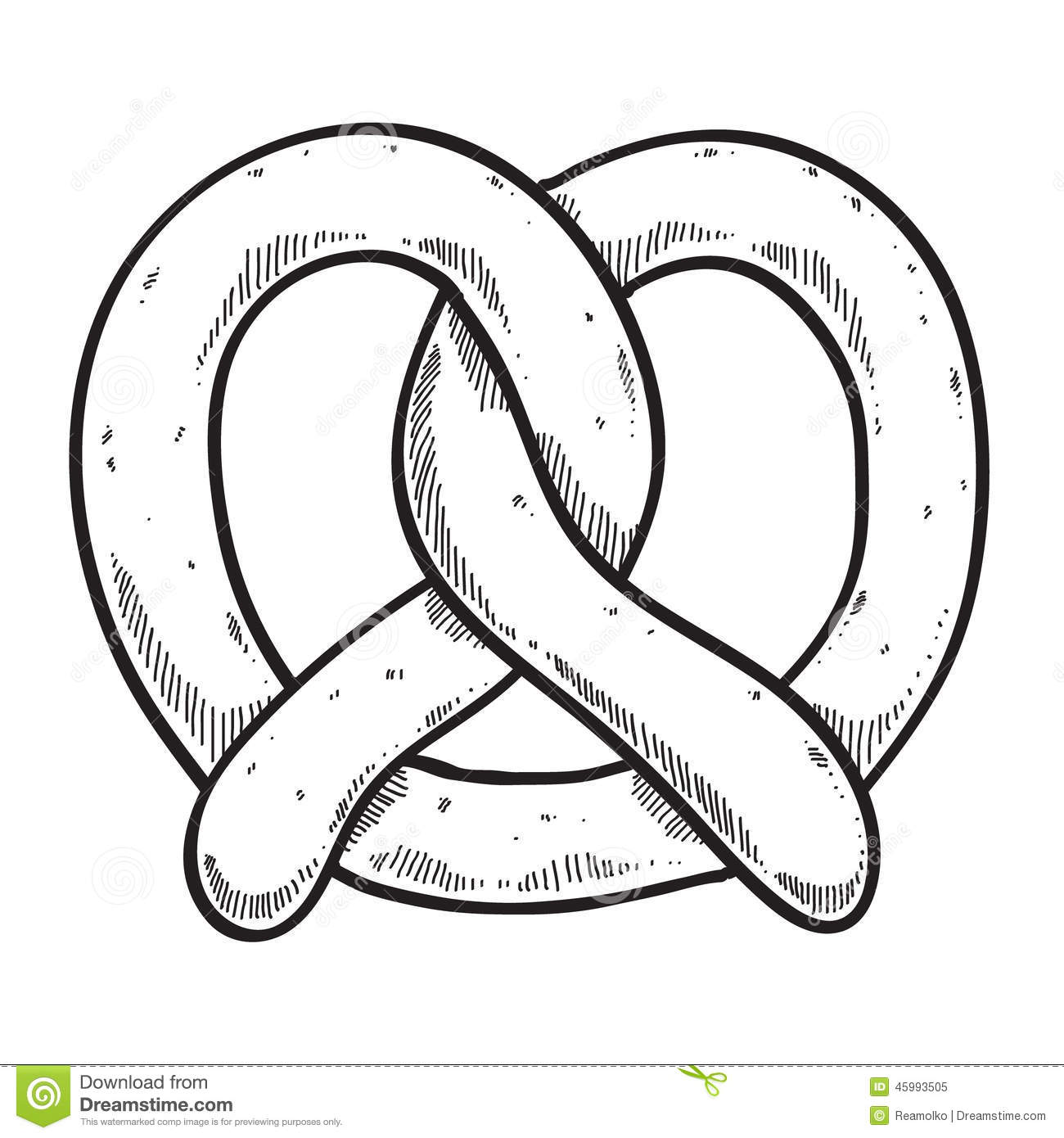 Pretzel Clipart Black And White.