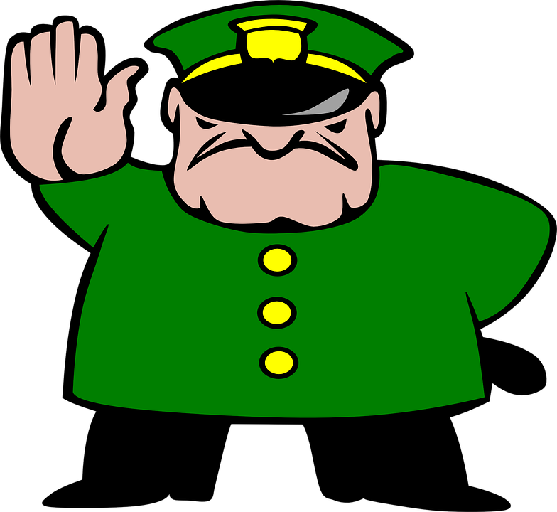 Free vector graphic: Police, Man, Stop, Strict, Stick.
