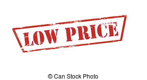 Vector Illustration of Low Price Stamps.