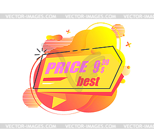 Best Price Banner with Stated Price, Clearance.