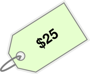 Price 25 Clip Art.