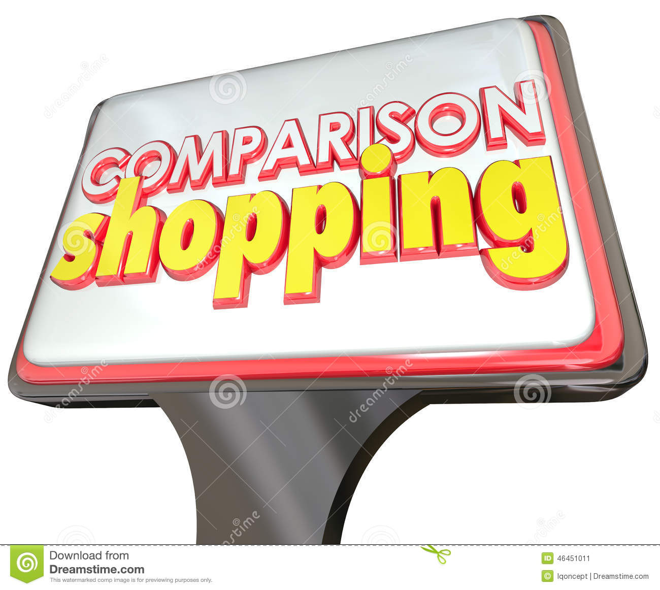 Comparison Shopping Store Sign Customer Advertising Best Price Q.