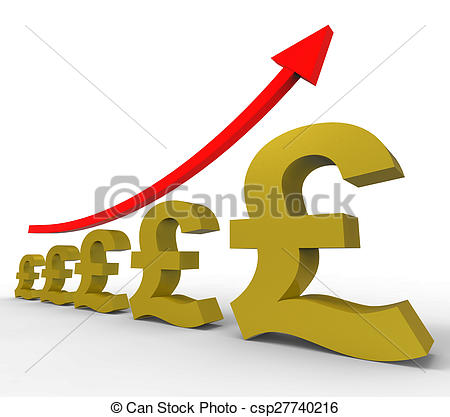 Clipart of Gpp Increasing Means Costs Cost And Rising.