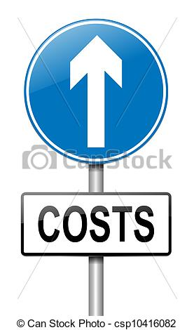 Stock Illustration of Cost increase concept..