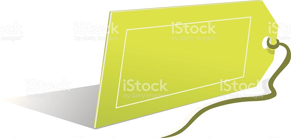 Empty Price Label stock vector art 136938362.