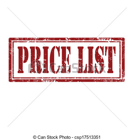 Clipart Vector of Price List.