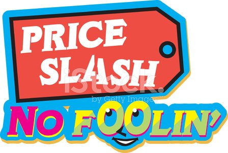 Price Slash Heading C Clipart Image.