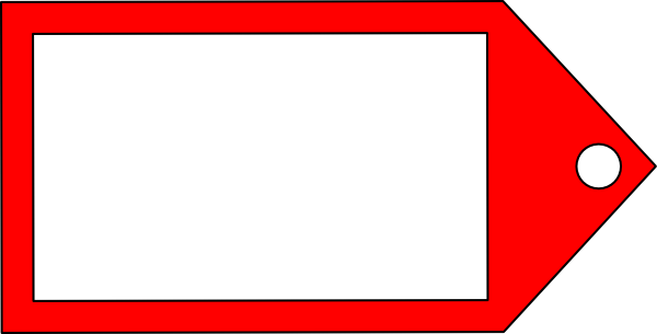 Red Price Tag Clipart.