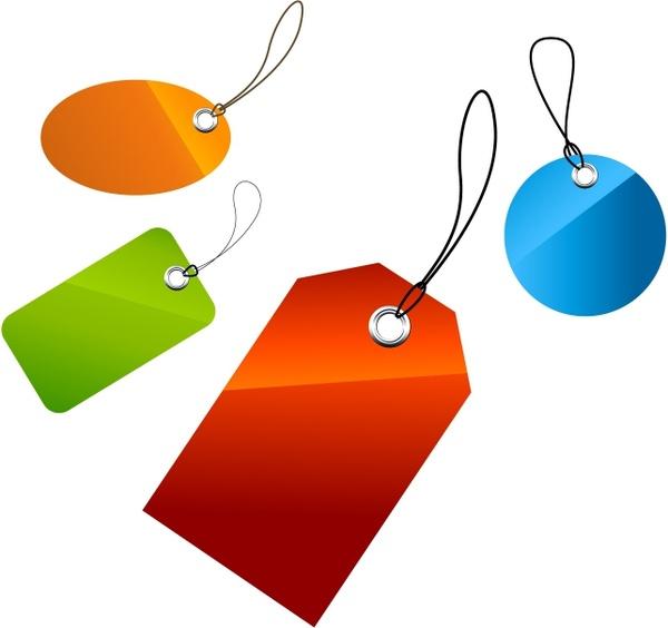 Set of price tags Free vector in Adobe Illustrator ai ( .AI.