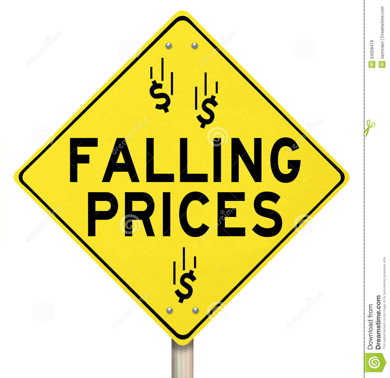 Falling Prices Clipart.