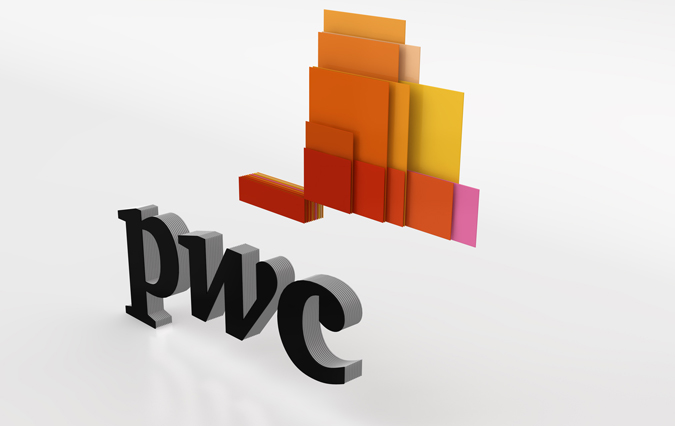PWC\'s Mighty Morphin\' Logo Adapts to Web, Print, and Beyond.