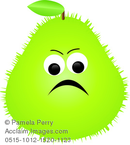 Clip Art Image of a Cartoon Prickly Pear Character.