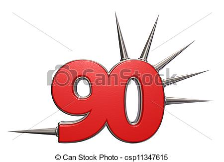 Clipart of prickles number.