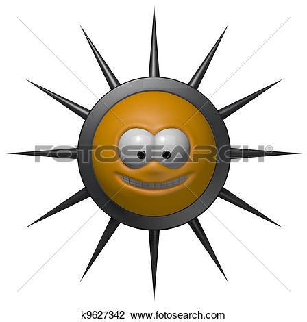 Clip Art of prickles k9627342.