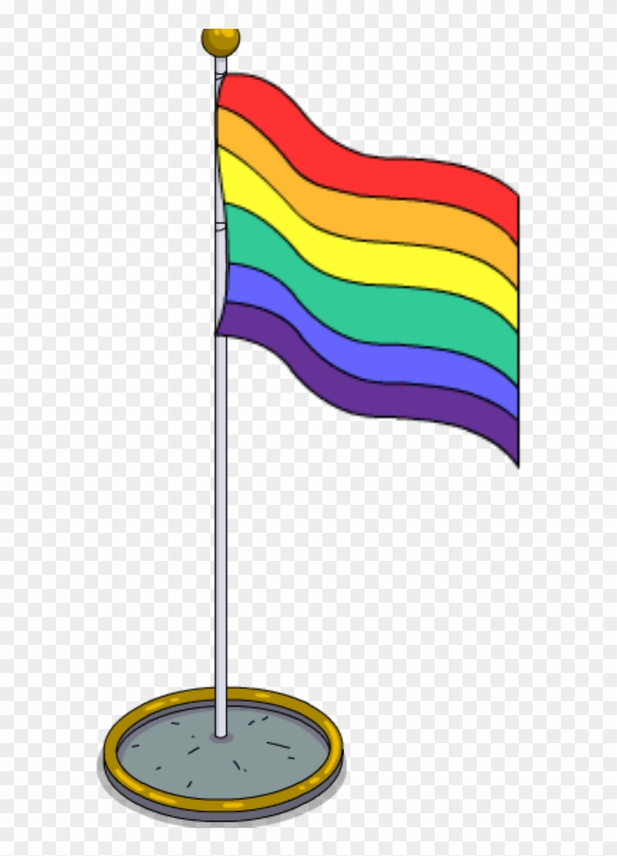 Rainbow Flag Pole.