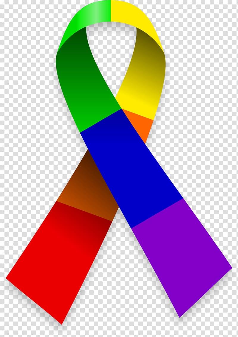 Multicolored awareness ribbon , Logo LGBT symbols Rainbow.
