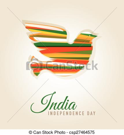 Vectors Illustration of Independence Day of India.