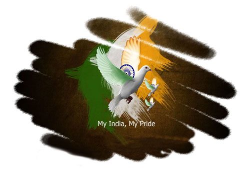 My nation india clipart.