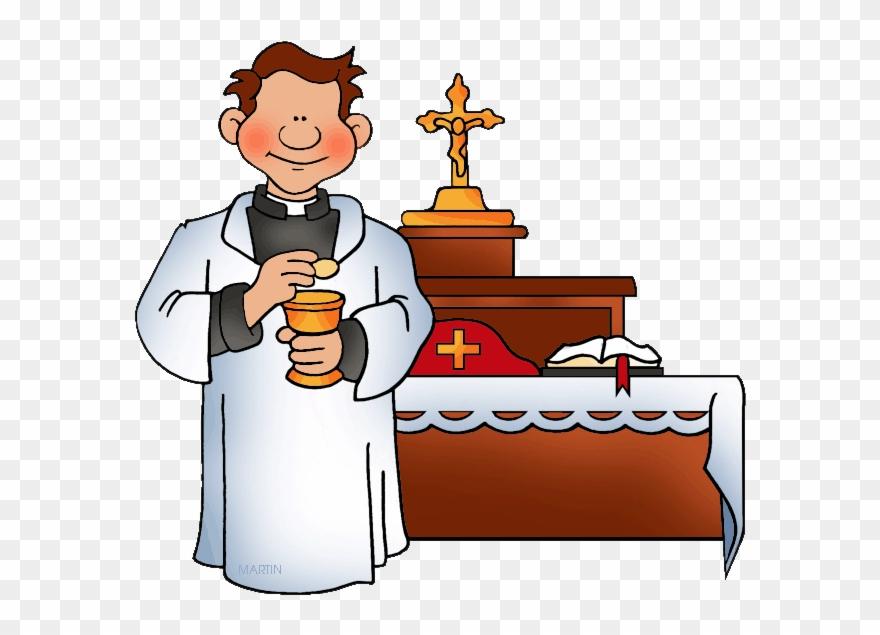 Priest Baptism Clip Art.