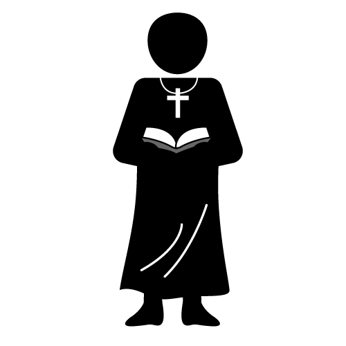 priest clipart black and white.