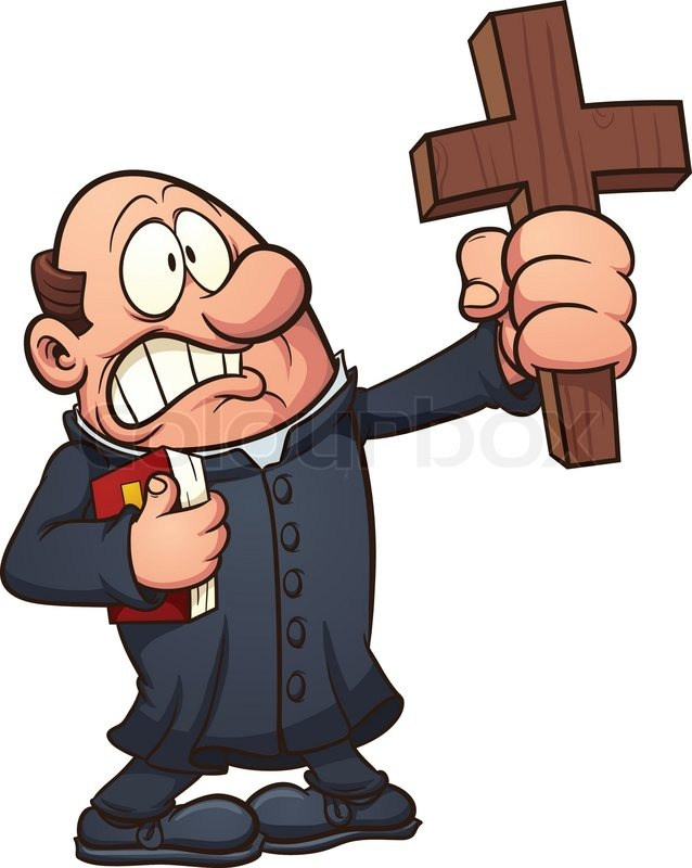 Showing post & media for Cartoon priest clip art.