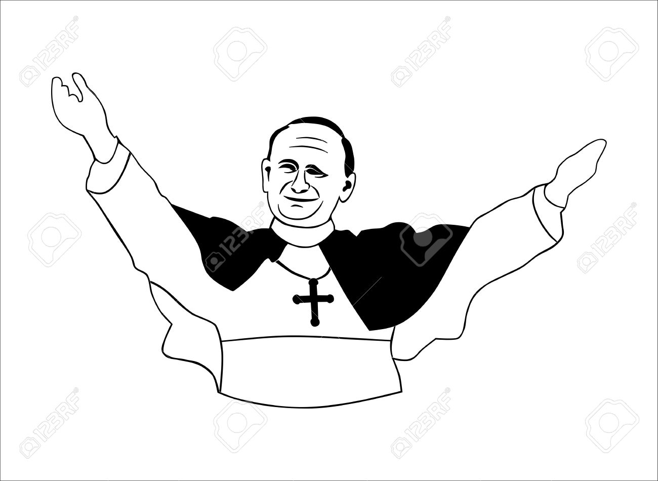 Priest clipart black and white 5 » Clipart Station.