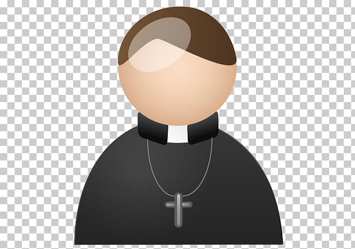 Symbol neck, Priest, person wearing necklace with cross.