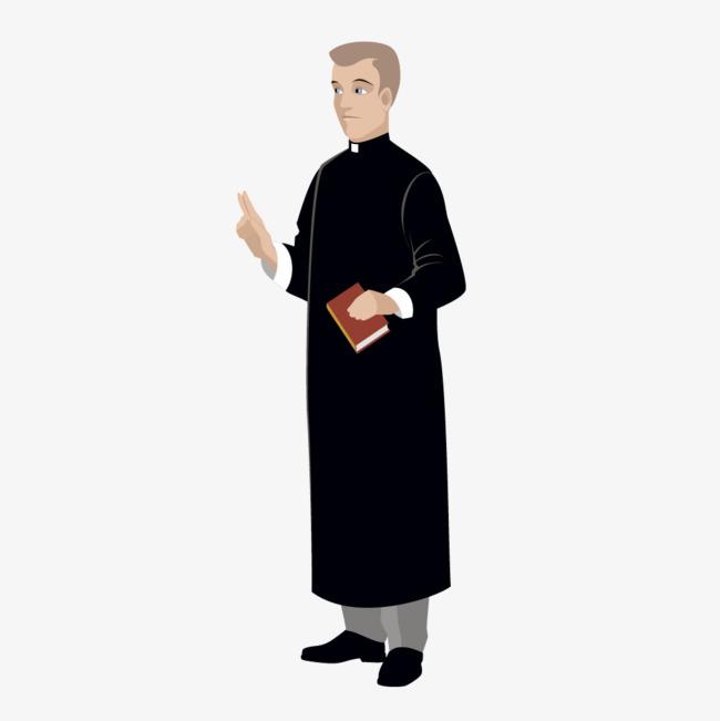Black Priest Robe Black Robe Priest Png And Vector Priest.