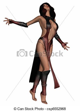 Clip Art of Sexy Fantasy Priestess.