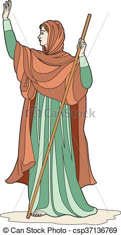 Clip Art Vector of Priestess scarf.