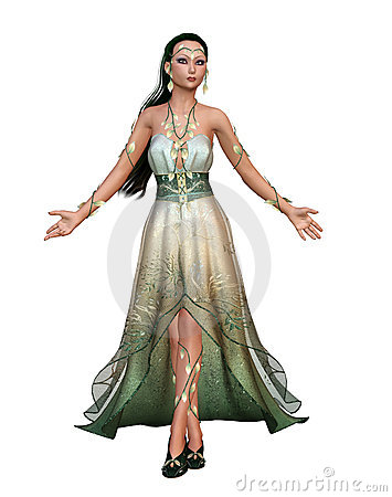 Fantasy Priestess Stock Illustrations.