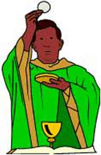 Roman catholic priests clipart.