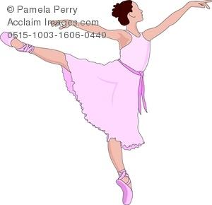 Clip Art Image of a Prima Ballerina.
