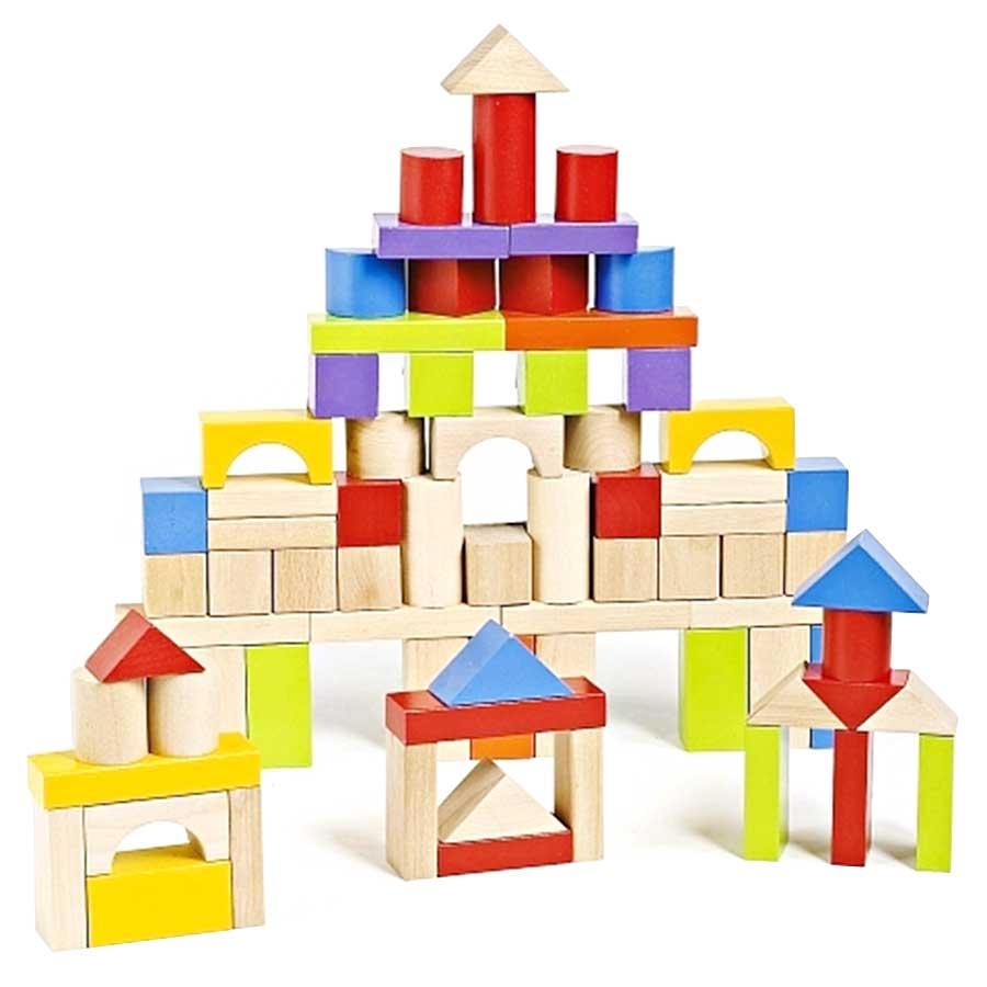 Imaginarium 75 Piece Wooden Block Set.