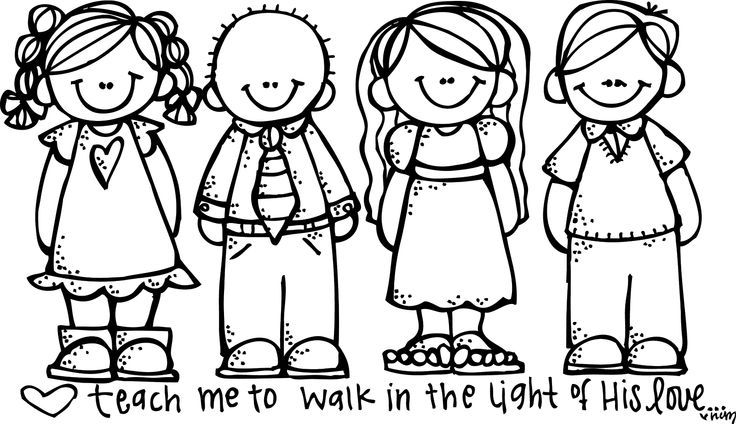 Free lds clipart to color for primary children lds color.